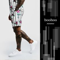 boohoo Flower Patterns Street Style Joggers Shorts