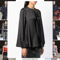 alexander mcqueen Silk Long Sleeves Long Oversized Elegant Style