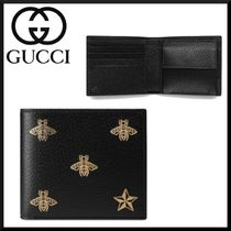 GUCCI Unisex Other Animal Patterns Folding Wallets
