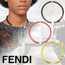 FENDI Casual Style Enamel Blended Fabrics With Jewels Accessories