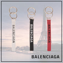 BALENCIAGA EVERYDAY TOTE Plain Leather Keychains & Holders