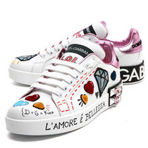 Dolce & Gabbana Studded Low-Top Sneakers