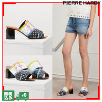 Pierre Hardy Dots Tropical Patterns Open Toe Casual Style Street Style