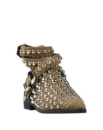 Rubber Sole Casual Style Studded Street Style Mules
