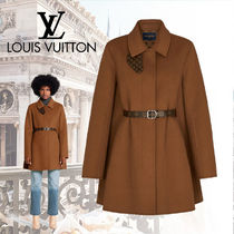 Louis Vuitton MONOGRAM Monogram Wool Plain Elegant Style Coats