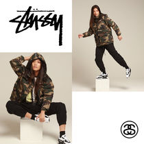 STUSSY Camouflage Street Style Down Jackets