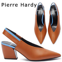 Pierre Hardy Rubber Sole Bi-color Plain Leather Pointed Toe Pumps & Mules