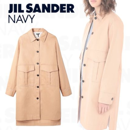 Casual Style Street Style Plain Medium Front Button Coats