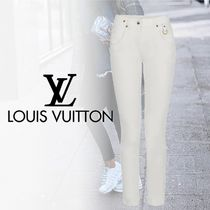 Louis Vuitton Plain Cotton Elegant Style Skinny Pants