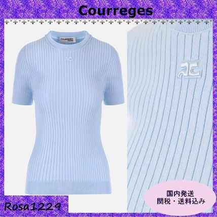 Cotton Short Sleeves Sweaters