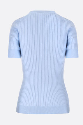 Courreges Sweaters Cotton Short Sleeves Sweaters 3