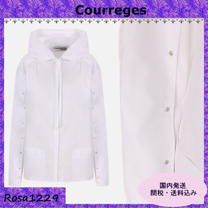 Courreges Shirts & Blouses Long Sleeves Cotton Shirts & Blouses