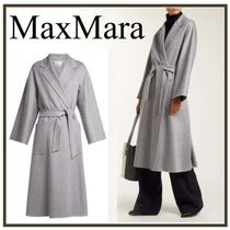 MaxMara Casual Style Cashmere Plain Long Chester Coats