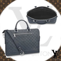 Louis Vuitton DAMIER INFINI Other Check Patterns A4 2WAY Leather Business & Briefcases