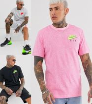 Nike Crew Neck Pullovers Street Style Cotton Short Sleeves