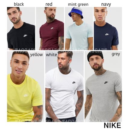 Nike Crew Neck Crew Neck Unisex Street Style Plain Cotton Short Sleeves