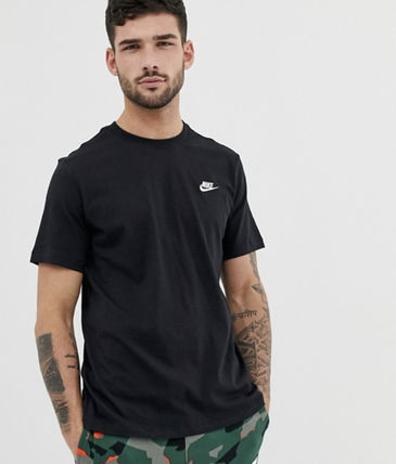 Nike Crew Neck Crew Neck Unisex Street Style Plain Cotton Short Sleeves 3
