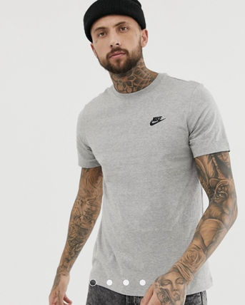 Nike Crew Neck Crew Neck Unisex Street Style Plain Cotton Short Sleeves 4