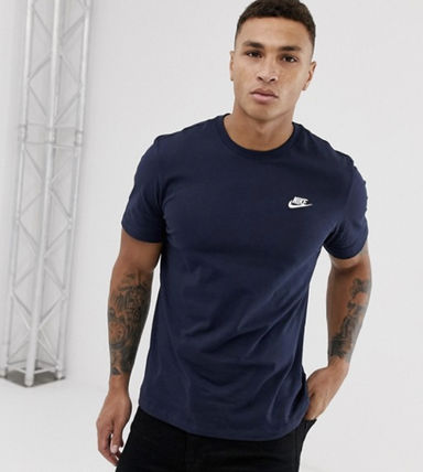 Nike Crew Neck Crew Neck Unisex Street Style Plain Cotton Short Sleeves 16