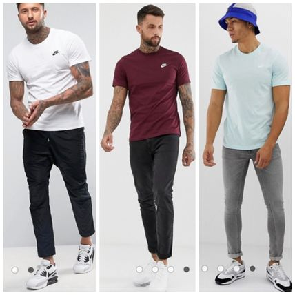 Nike Crew Neck Crew Neck Unisex Street Style Plain Cotton Short Sleeves 19