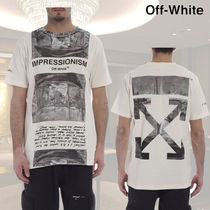Off-White Crew Neck Cotton Short Sleeves Crew Neck T-Shirts