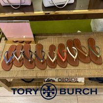 Tory Burch Plain Leather Sandals
