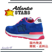 Atlantic STARS Star Round Toe Unisex Street Style Leather Low-Top Sneakers