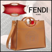 FENDI RUNAWAY Calfskin 2WAY Plain Elegant Style Handbags