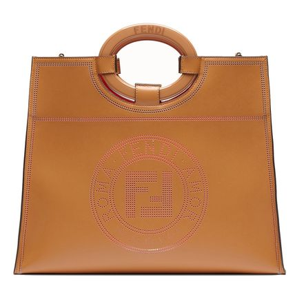 Calfskin 2WAY Plain Elegant Style Crossbody Logo Handbags