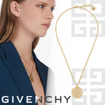 GIVENCHY Unisex Coin Brass Elegant Style Necklaces & Pendants