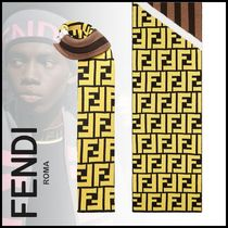 FENDI Stripes Unisex Wool Street Style Scarves