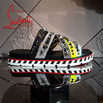 Christian Louboutin Studded Street Style Shower Shoes Shower Sandals