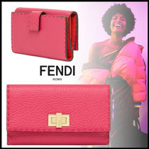 FENDI SELLERIA Calfskin Plain Long Wallets