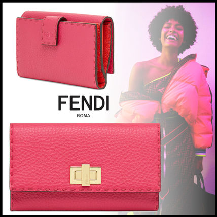 FENDI Long Wallets Calfskin Plain Long Wallets