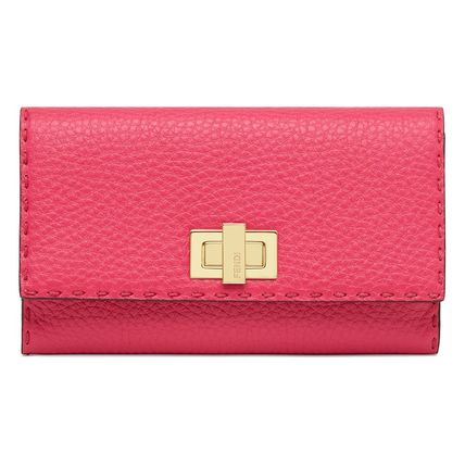 FENDI Long Wallets Calfskin Plain Long Wallets 2
