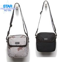 HUF Camouflage Casual Style Plain Crossbody Shoulder Bags