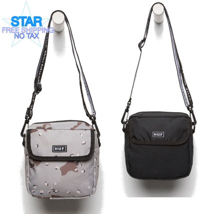 Camouflage Casual Style Plain Shoulder Bags