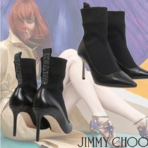 Jimmy Choo Leather Pin Heels Elegant Style Ankle & Booties Boots