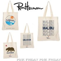 Ron Herman Casual Style Unisex Canvas A4 Other Animal Patterns Totes