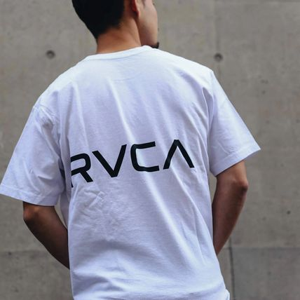 RVCA More T-Shirts Unisex Plain Short Sleeves T-Shirts 7