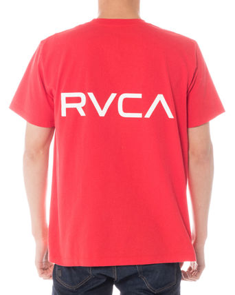 RVCA More T-Shirts Unisex Plain Short Sleeves T-Shirts 9
