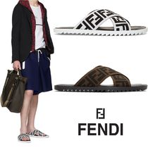 FENDI Monogram Street Style Shower Shoes Shower Sandals