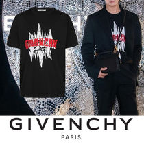 GIVENCHY Crew Neck Street Style Cotton Short Sleeves Python