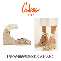 Castaner Stripes Round Toe Casual Style Blended Fabrics Collaboration