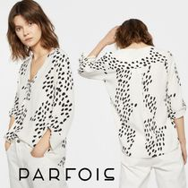 PARFOIS Casual Style Long Sleeves Medium Shirts & Blouses
