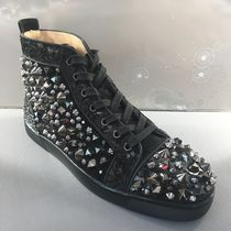 Christian Louboutin LOUIS Blended Fabrics Studded Sneakers