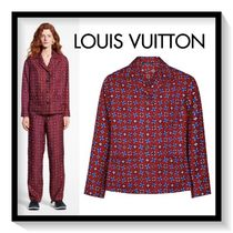Louis Vuitton Monogram Casual Style Silk Long Sleeves Medium