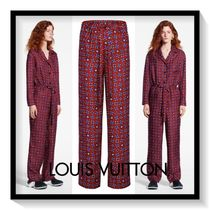Louis Vuitton Monogram Casual Style Silk Long Pants