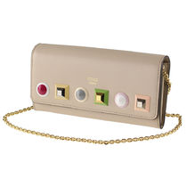 FENDI Studded Leather Long Wallets