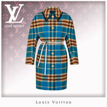 Louis Vuitton Other Check Patterns Monogram Wool Blended Fabrics Long
